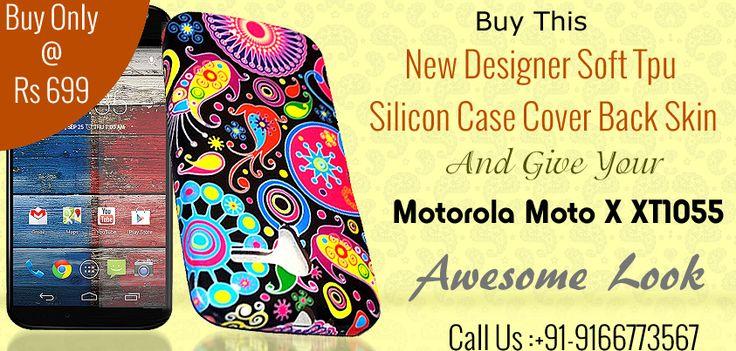New Designer Soft Tpu Silicon Cover Back Skin For Motorola Moto X XT1055