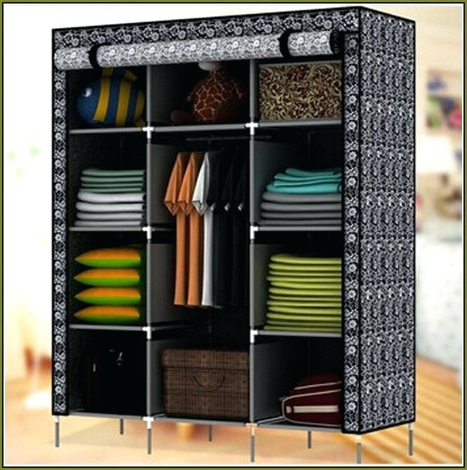 You Can Conquer Your Clothing Storage Without A Closet Here Are 6 Strategies Portable Closet Closet Furniture Spare Bedroom Closets