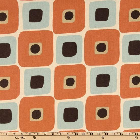 Fabric Premier Prints Illusions Sweet Potato Orange Village Blue Natural  Cotton Home Decor 1.25 Yard REMNANT Bolt End, Last Piece Available