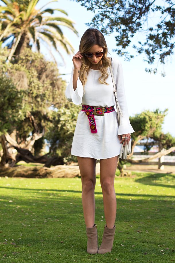 Look Luisa Accorsi – Cinto Peruano! Vestido: Pash | Cinto: Style Market | Bota: Luiza Barcelos | Bolsa: Gucci