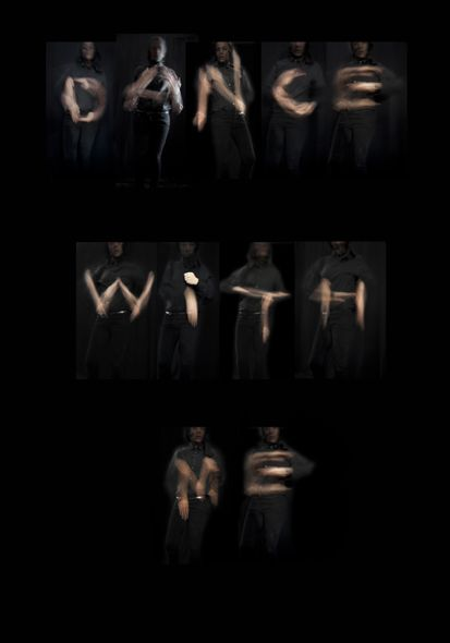 Dance with me is an alphabet based on 26 choreographic micro-pieces.   Long-exposure photography reveals each letter, invisible to the naked eye.