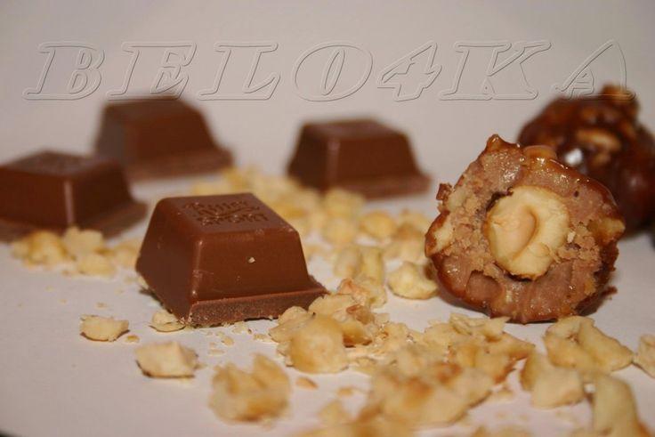 """Конфеты """"Шоколадно-ореховое безумие"""" - кулинарный рецепт"""