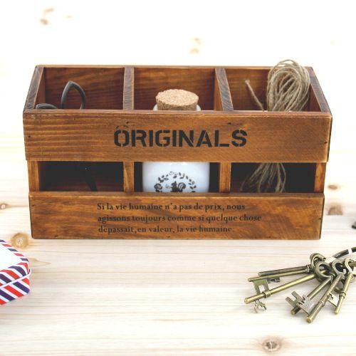закки деревянной коробке / ретро сделать старый деревянный ящик / сделать старый деревянный ящик / держатель пера творческого домашнего интерьера деревянных судов