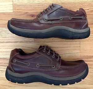 Sperry Top Sider Mens Size 8 M Amaretto/Brown Leather Boat Dock 4-Eyelet Moc  | eBay