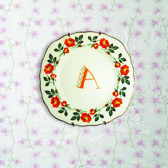 Hey, I found this really awesome Etsy listing at https://www.etsy.com/ie/listing/568919251/upcycled-vintage-hanging-plates