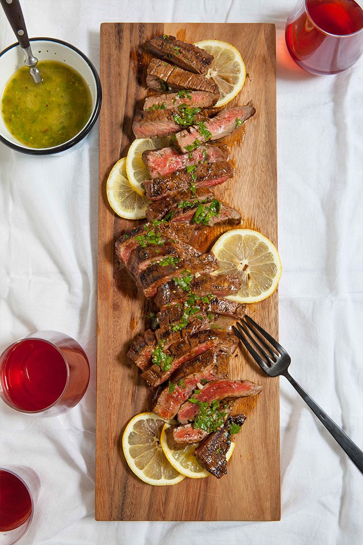 Grilling steaks for dinner is a no-brainer, but sometimes the finished product can be, well, a little bland. For big, bold flavor, we marinate our steaks before putting them on the grill and then serve them with a fresh herb sauce for an extra boost. — via @PureWow