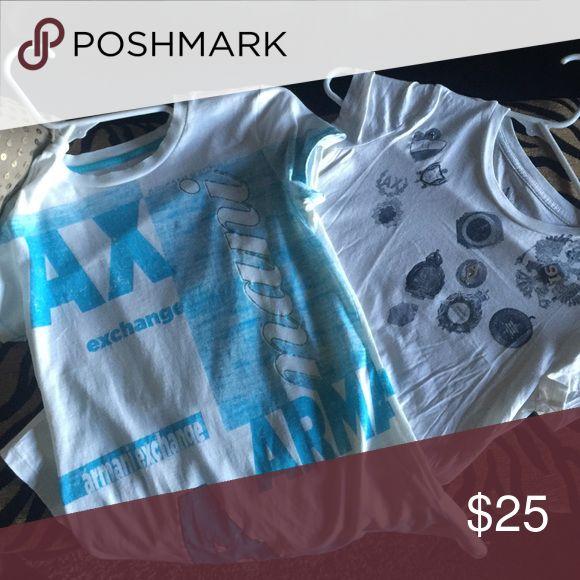 Two Armani exchange shirts 👚 Armani Exchange Tops Tees - Short Sleeve