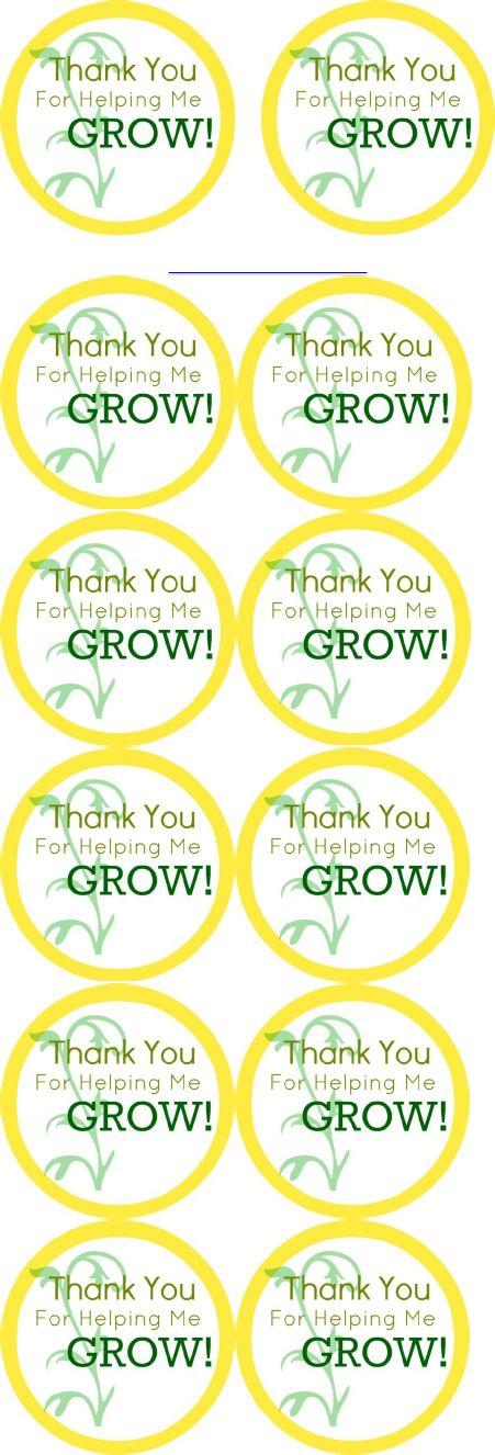 Printable Thank You for Helping Me Grow Seeding Teacher Gift