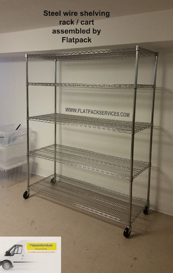 Wayfair Steel Shelving Rolling Cart Assembled By Flatpack Assembly Best  Furniture Assembly In Washington, DC