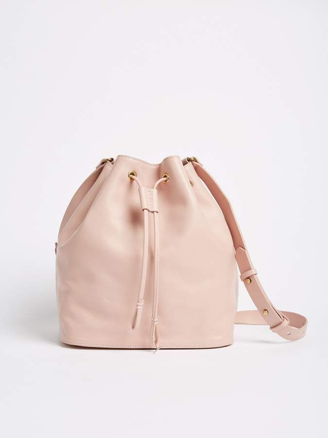 794fb90f32 Leather Bucket Bag - Light Peach #commissionlink #bucketbag #leatherbag # shopstyle #style #fashion #accessories #bag #giftideas #giftguide #peach ...
