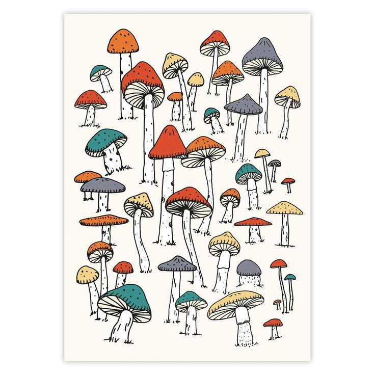 Mushroom print by Hvass&Hannibal