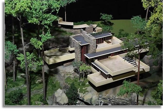 Falling Water FLW: Fallingwater Houses, The Waterfall, Frank Lloyd Wright, Architecture Ideas, Franklloydwright, Falling Waters, Architecture Outside, Fall Water, Architecture Models