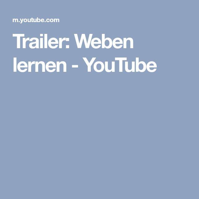 Trailer: Weben lernen - YouTube