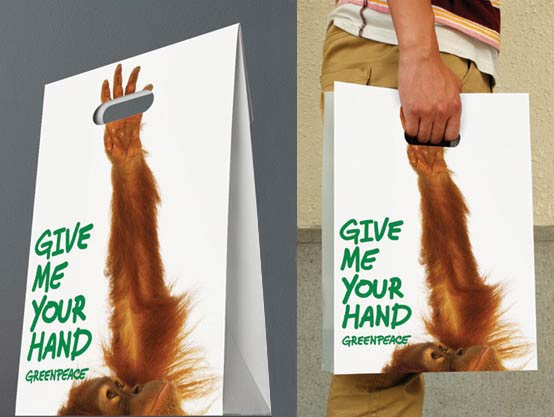 Creative carrier bags.