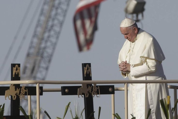 """Pope Francis has a message for Donald Trump: building a wall on the Mexican border is """"not Christian."""""""