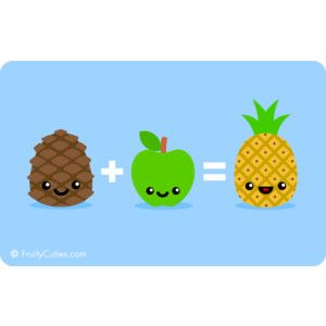 Pineapple Mathematics Joke - Cute Comedy with Kawaii Fruit cartoons