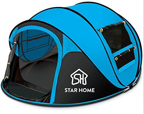 STAR HOME Seconds Pop-up Quick-opening Tents 3-4 Person (…