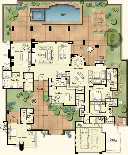 406 Best Images About Homes House Floor Plans On Pinterest