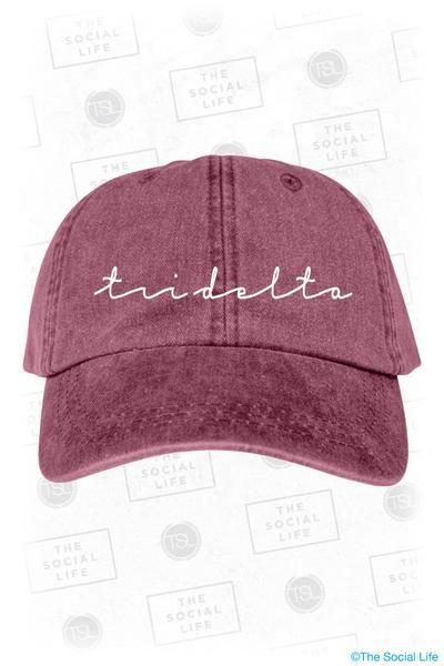 Tri Delta Vintage Hat – The Social Life