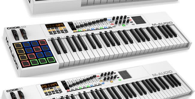 NAMM 2015: Code Series MIDI Controllers by M-Audio http://www.producerspot.com/namm-2015-code-series-midi-controllers-keyboards-m-audio