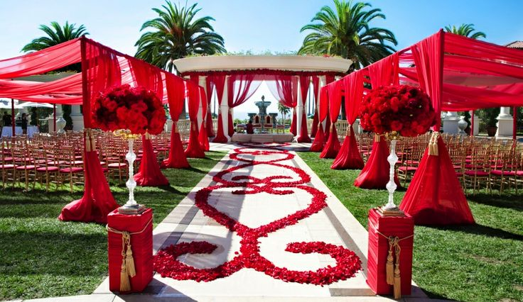 Red mandap #mandapstyle #indianweddinginspiration #indianweddingmandaps