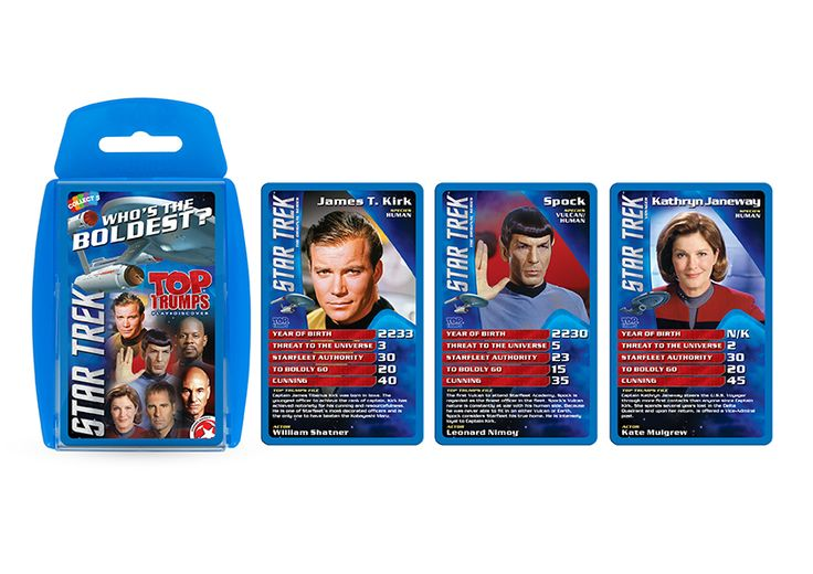 Boldly go and play the Star Trek Top Trumps card game!