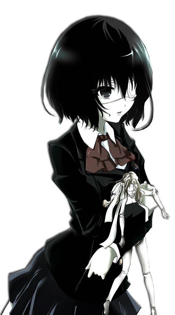 """Misaki Mei - Another. """"Ves, las muñecas están huecas. Sus cuerpos y sus almas están completamente huecas. Es un hueco que las conecta con la muerte. Pero las cosas huecas intentan llenar sus vacíos."""""""