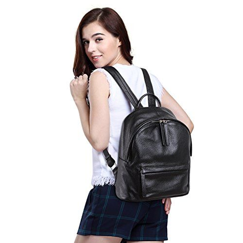 Jack&Chris Backpack Purse Classic Leather Backpack for Women Zip Pocket School Handbags, WB205 $79.00