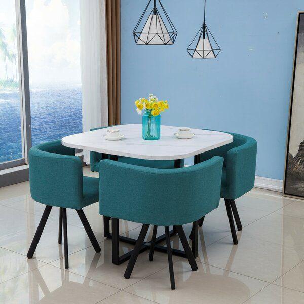 Biondo 5 Piece Dining Set Coffee Table To Dining Table Dining Room Small 5 Piece Dining Set