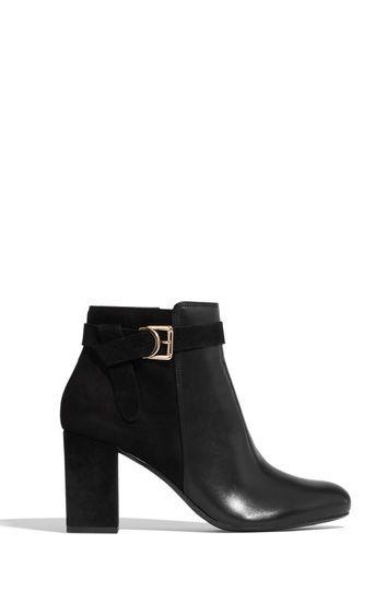 47e8c5c9acc7 BLOCK HEEL ANKLE BOOTS | Oasis | looks. | Block heel ankle boots ...