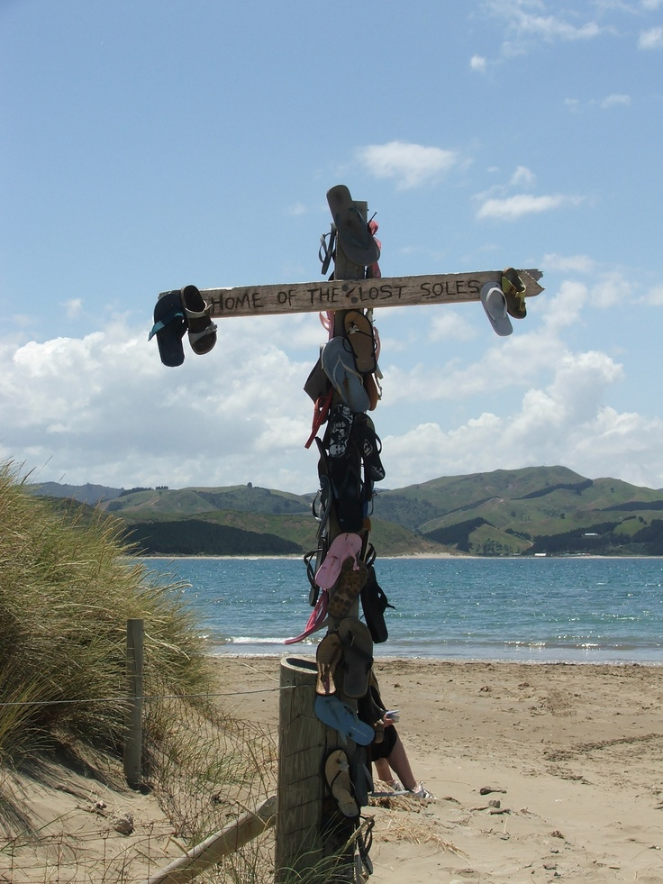 Home of the lost soles, Castlepoint, New Zealand