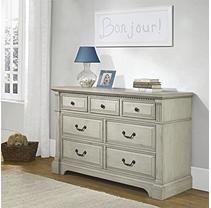 Monbebe Everett 7-Drawer Dresser, Antique Gray
