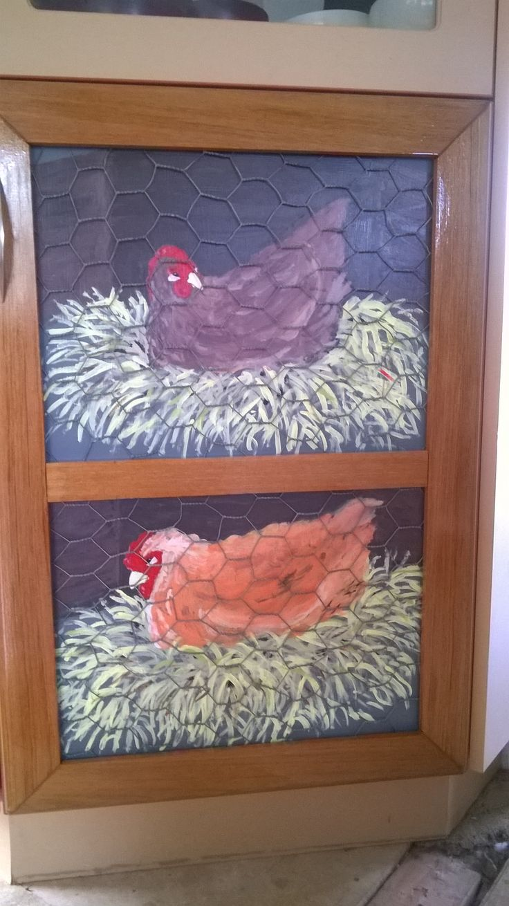 Now completed with chicken wire and varnished rimu