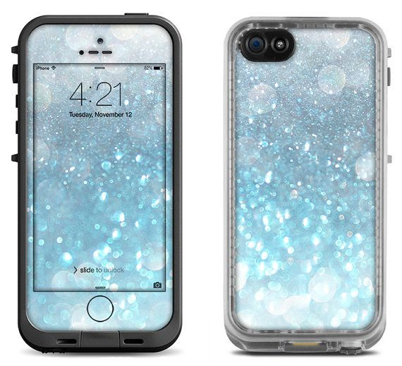 Aqua Blue Shimmer Decal Skin for the iPhone 4/4s by MintedSkins