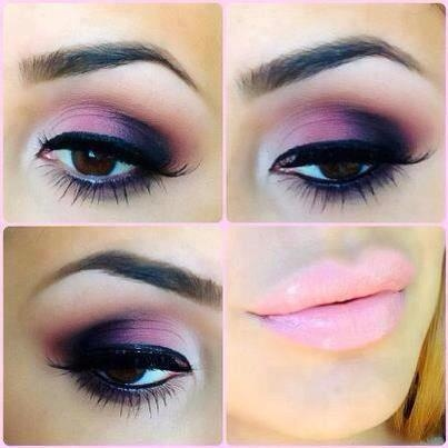 Black pink eyeshadow