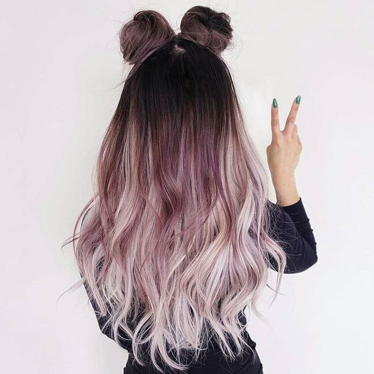 """1,963 Likes, 10 Comments - Dope Hair  Hairstyles Boston (@imallaboutdahair) on Instagram: """"Because what's cooler than metallic mauve and pink space buns @lo.reeeann"""""""
