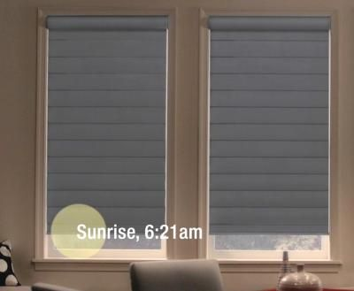 PowerView™ Motorization | Hunter Douglas ;; Curtains/blinds with timers, alarms, motorized settings, remote control