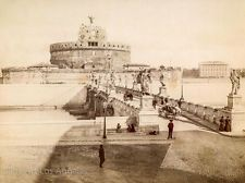 "Alinari Photo, ""Ponte e Castel Sant'Angelo"" Rome, 1875"
