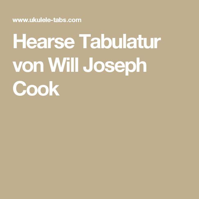 Hearse Tabulatur von Will Joseph Cook