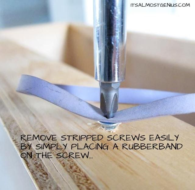 Remove Stripped Screws with a rubberband