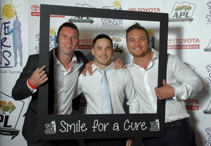 Smile for a cure boys!