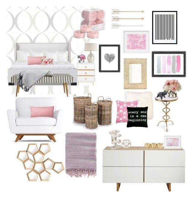 """Untitled #35"" by karleighrempel on Polyvore featuring interior, interiors, interior design, home, home decor, interior decorating, Brewster Home Fashions, Pier 1 Imports, Puji and Squarefeathers"