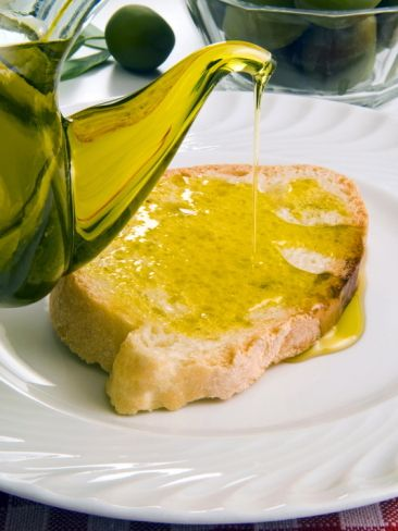 Bread and Olive Oil, Tuscany, Italy