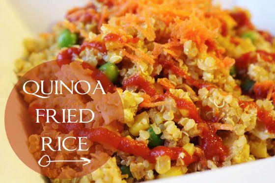 quinoa fried rice @susangaribay  sounds good!
