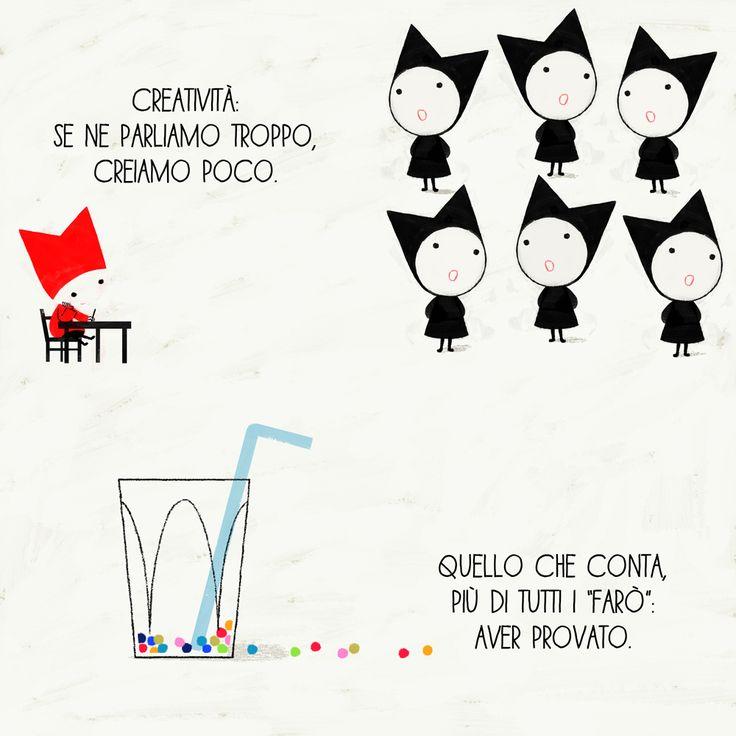 "Fifth page of ""Ten ideas on ideas"". Haiku by Silvia Geroldi."