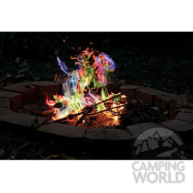 need to buy the stuff to make the bonfire colorful! (rainbow flame crystals, rutland?)