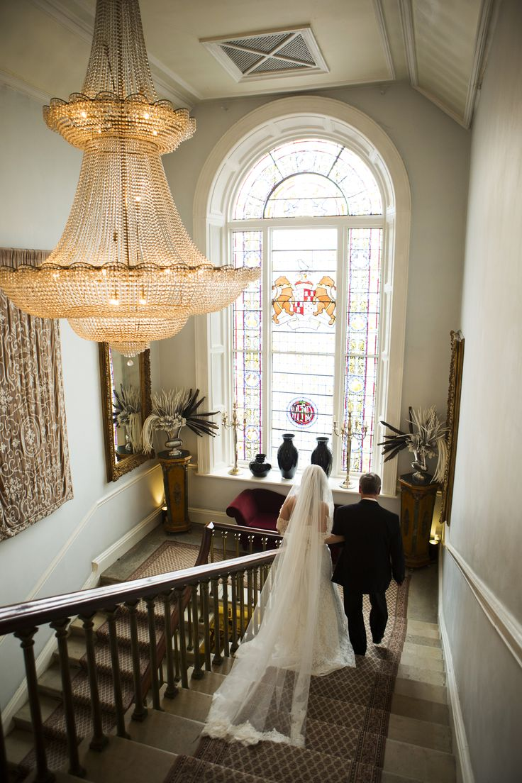 Stunning staircase in Castle Durrow Photo by