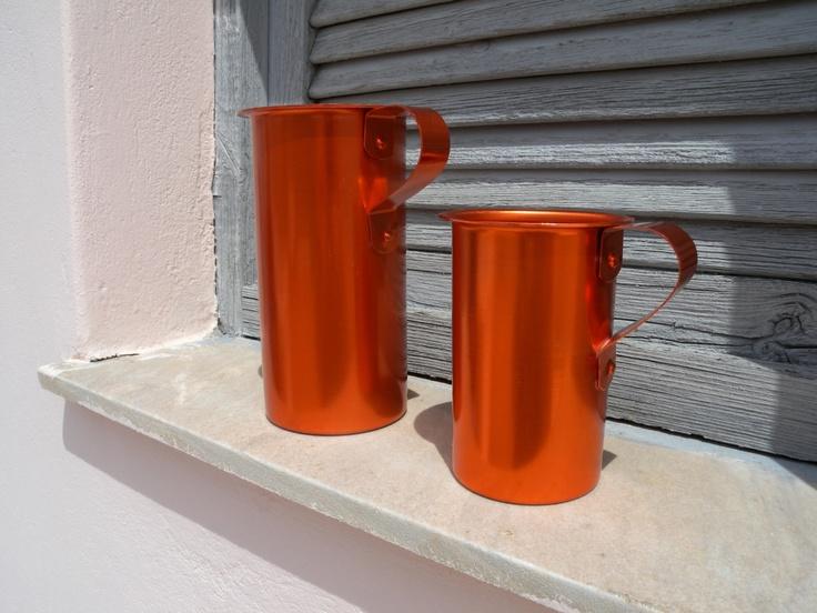 Mediterranean Style Anodized Aluminum Red Orange Shiny