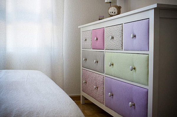 HEMNES dresser by IKEA pimped with different fabrics