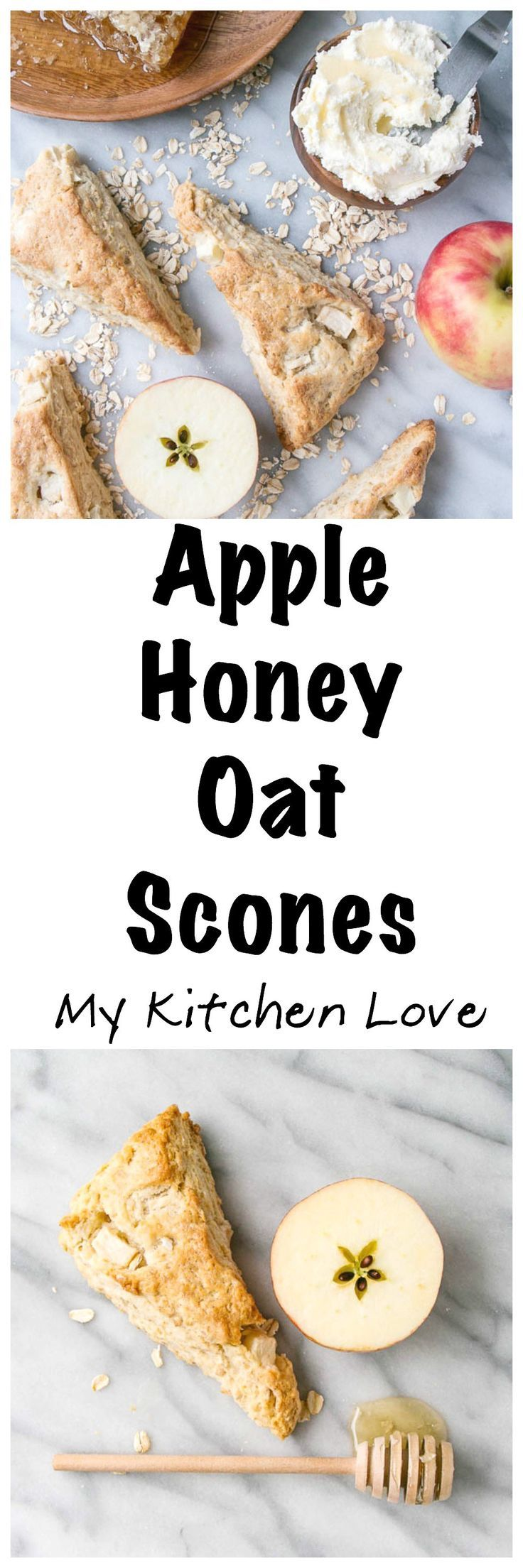 Apple and Honey Oat Scones | My Kitchen Love